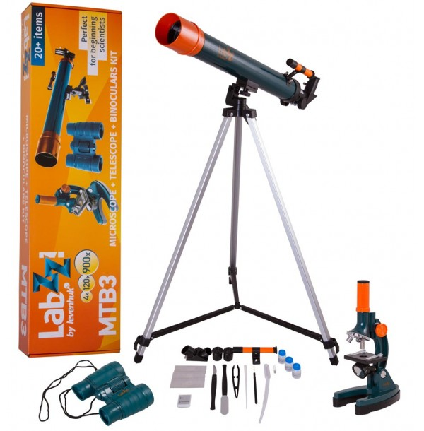 Набор Levenhuk LabZZ MTВ3: микроскоп, телескоп и бинокль. 69698