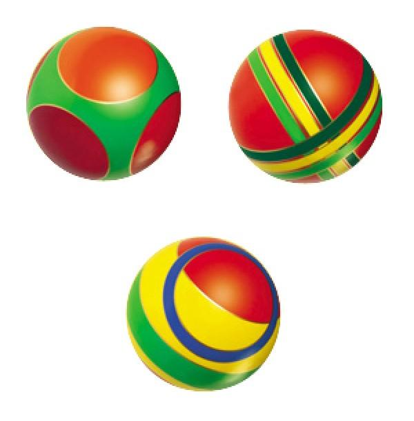 Мяч 44122/с-101ЛП с кругами (полоса) 150мм