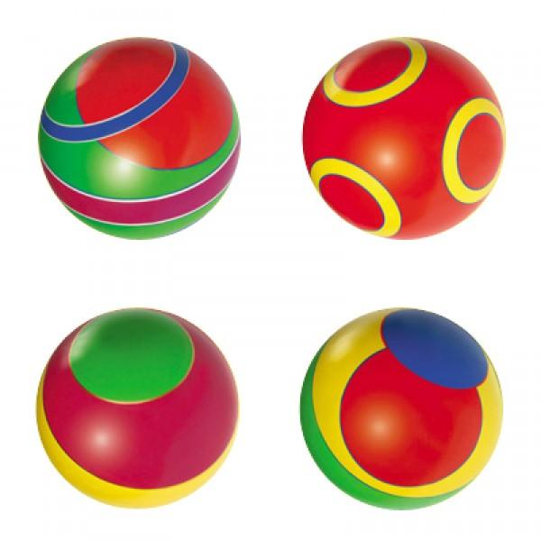 Мяч 44123/с-102ЛП с кругами (полоса) 200 мм
