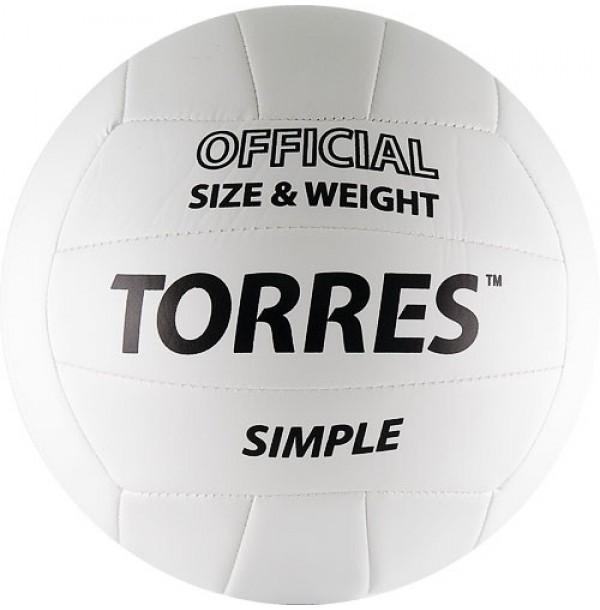 Волейбольный мяч TORRES Simple. V30105