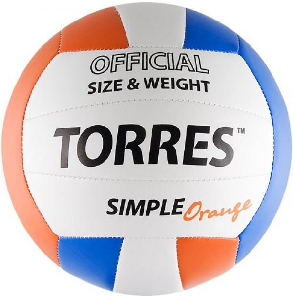 Волейбольный мяч TORRES Simple Orange. V30125