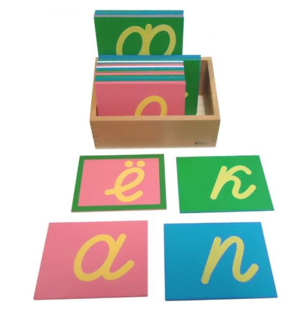 Трехцветные шероховатые буквы-прописные наклонные. 3.08.5