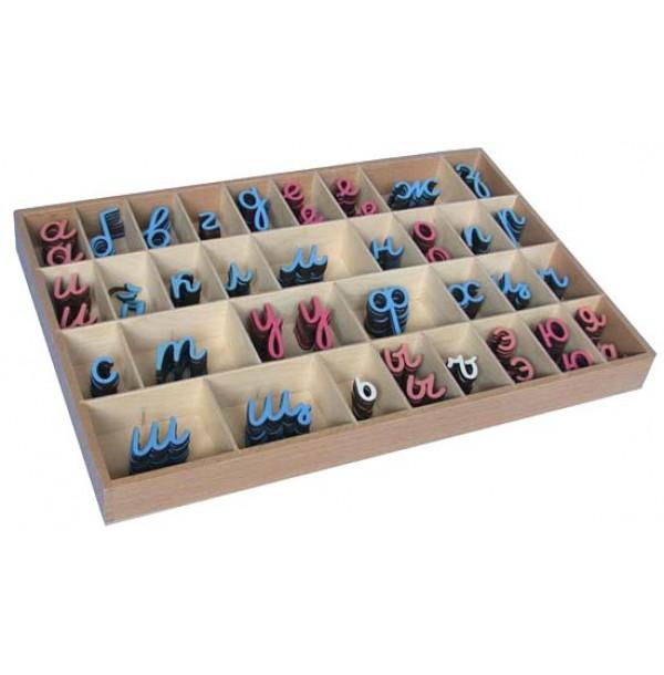 Малый подвижный алфавит-прописные наклонные буквы. 3.09.3