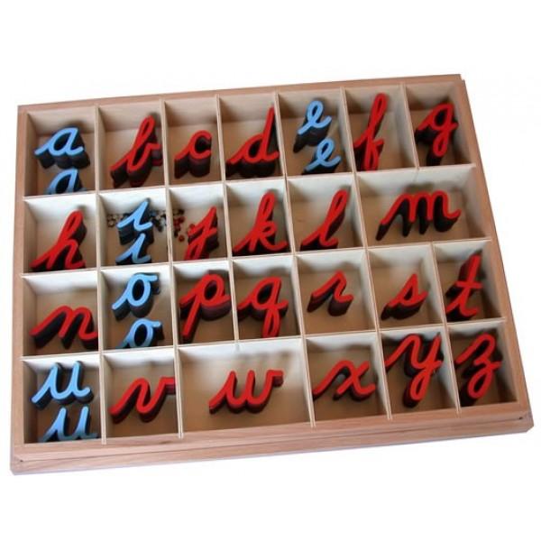 Англ. подвижный деревянный алфавит в коробке - прописные буквы (5/10 шт.).  3.06.5