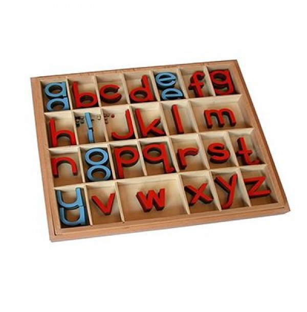 Англ. подвижный деревянный алфавит в коробке - печатные буквы. 5/10 шт. 3.06.4