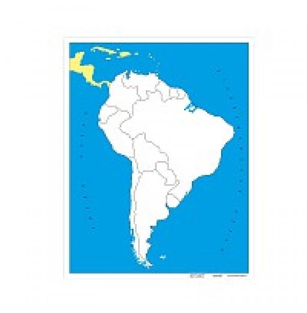 Контурная карта Южной Америки (без названий). 6.05.0