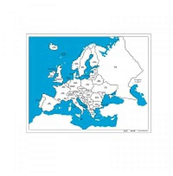 Контурная карта Европы. 6.03.1