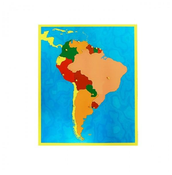 Карта Южной Америки (пазлы). 6.05
