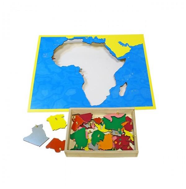 Карта Африки (пазлы) сквозная. 6.07.С