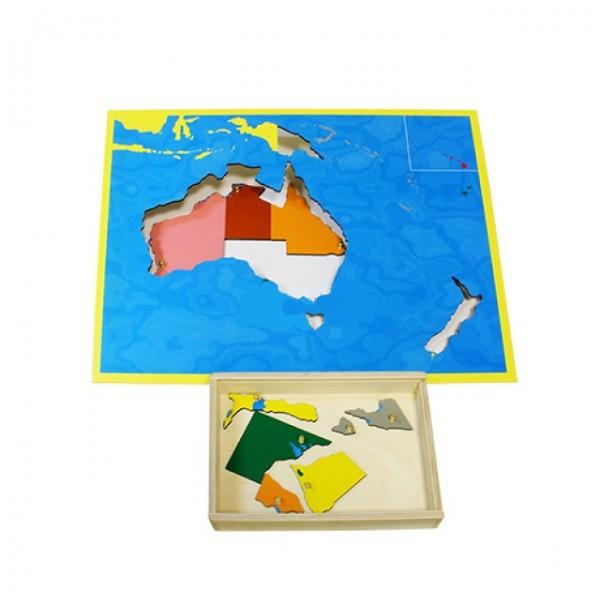 Карта Австралии (пазлы) сквозная. 6.08.С