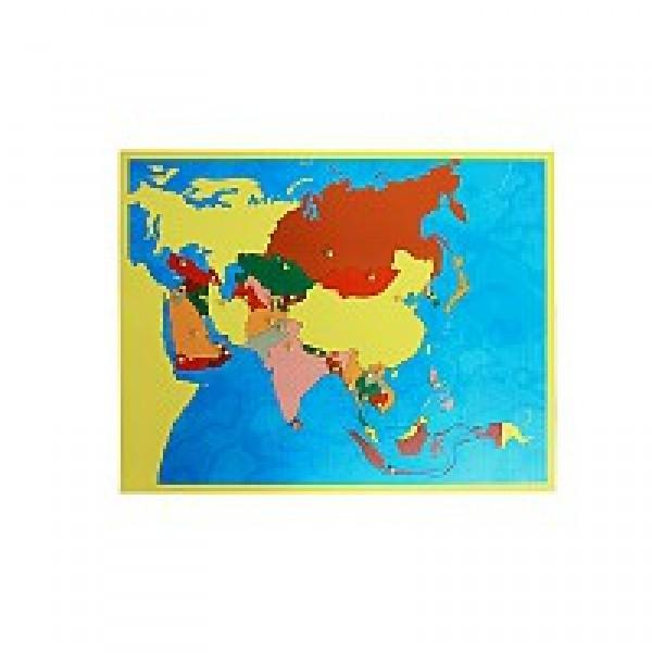 Карта Азии (пазлы). 6.06