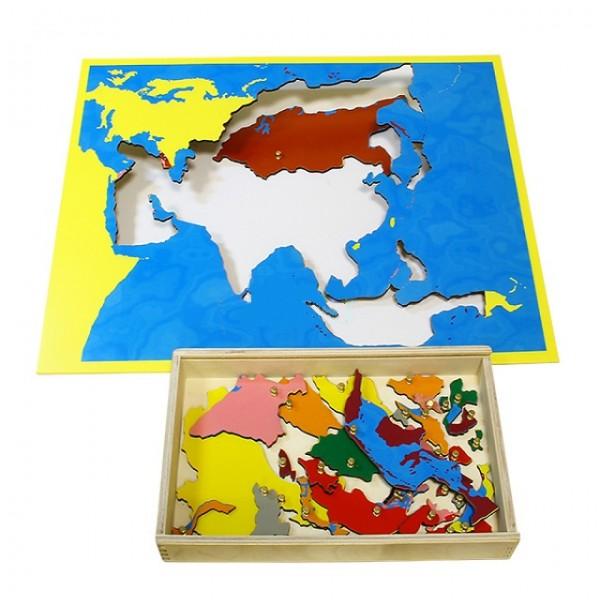 Карта Азии (пазлы) сквозная. 6.06.С