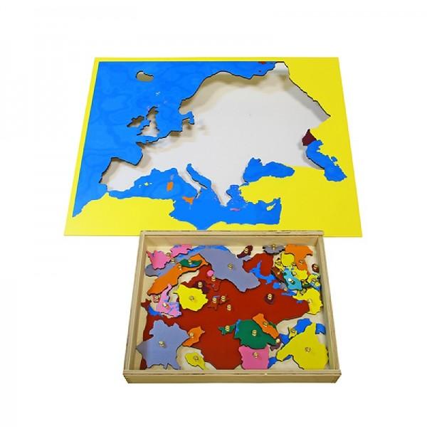 Карта Европы (пазлы) сквозная. 6.03.С