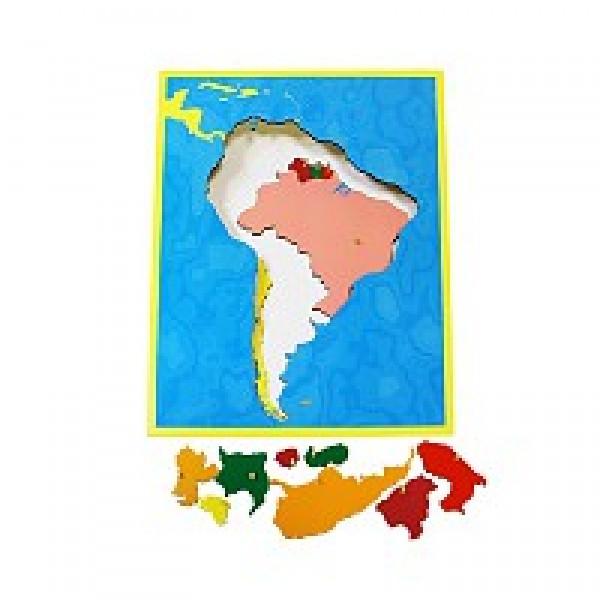 Карта Южной Америки (пазлы) сквозная. 6.05.С