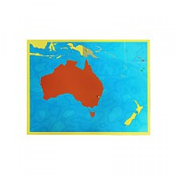 Карта Океании (пазлы). 6.09