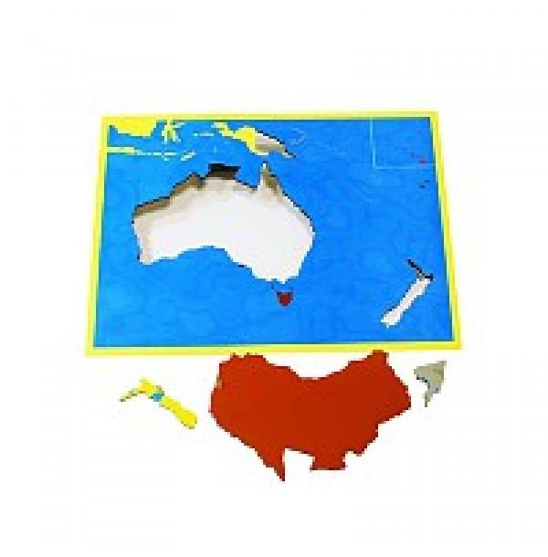 Карта Океании (пазлы) сквозная. 6.09.С