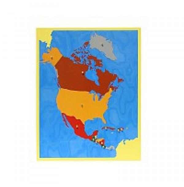 Карта Северной Америки. 6.04
