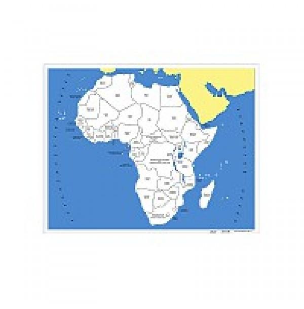 Контурная карта Африки. 6.07.1