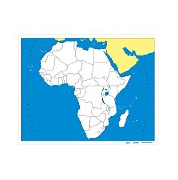 Контурная карта Африки (без названий). 6.07.0