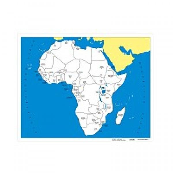 Контурная карта Африки - столицы. 6.07.1С