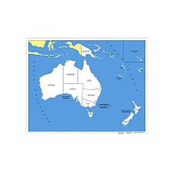 Контурная карта Австралии. 6.08.1