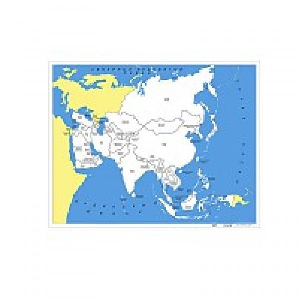 Контурная карта Азии. 6.06.1