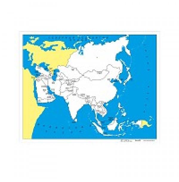 Контурная карта Азии - столицы. 6.06.1С