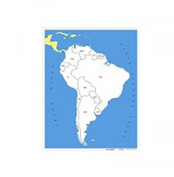 Контурная карта Южной Америки. 6.05.1
