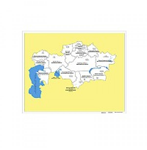 Контурная карта Казахстана. 6.10.1
