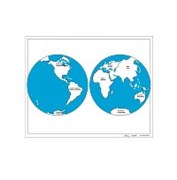 Контурная карта континентов. 6.01.1