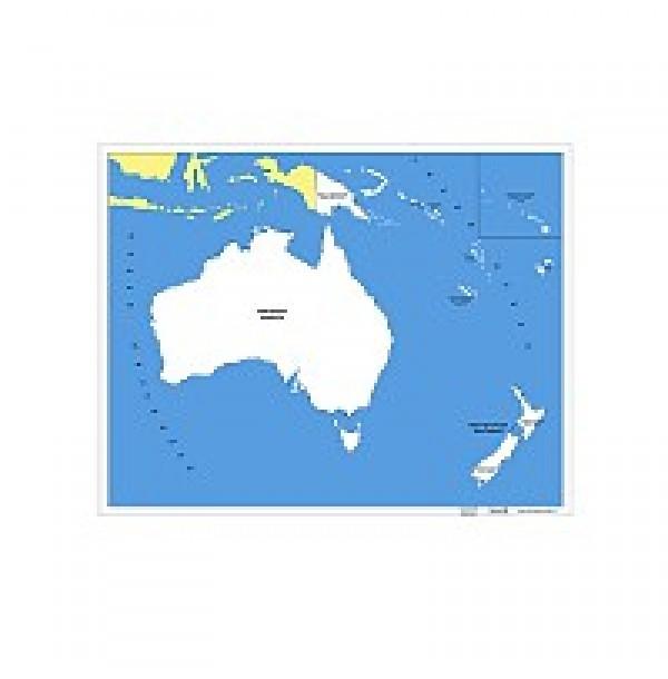Контурная карта Океании. 6.09.1