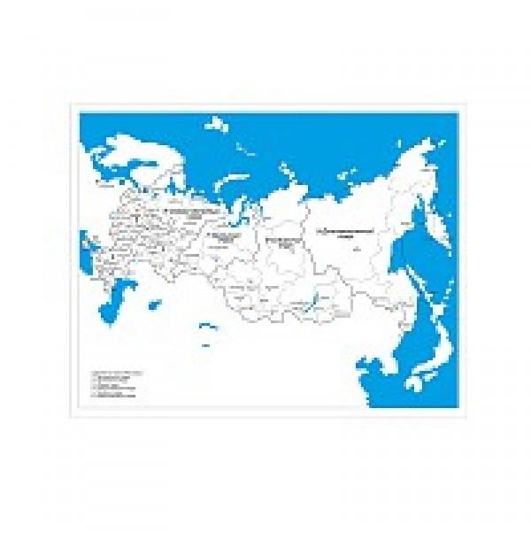 Контурная карта субъектов Российской Федерации. 6.02.1
