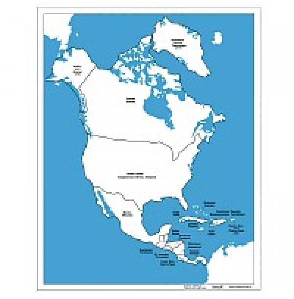 Контурная карта Северной Америки. 6.04.1