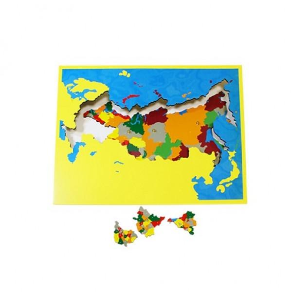 Карта субъектов Российской Федерации (пазлы) сквозная. 6.02.С