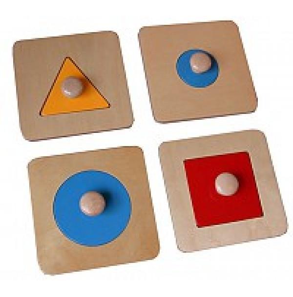 Геометрические пазлы: треугольник, квадрат и два круга. 7.10