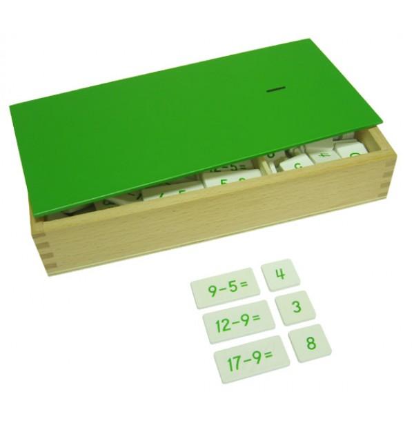 Ящик с примерами на вычитание. 4.23