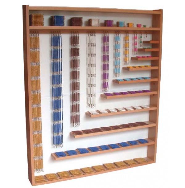 Большой деревянный стенд для материала из бусин для умножения и возведения в степень(4.13.1). 4.13.2
