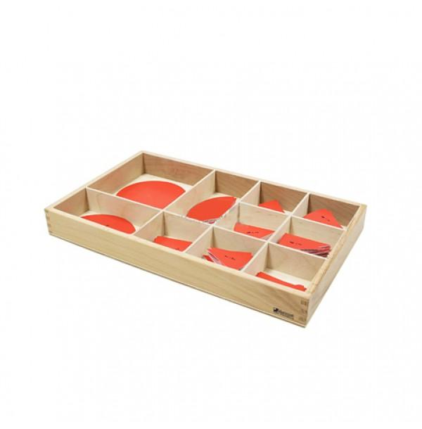 Пластиковые круги-дроби в ящике. 4.48