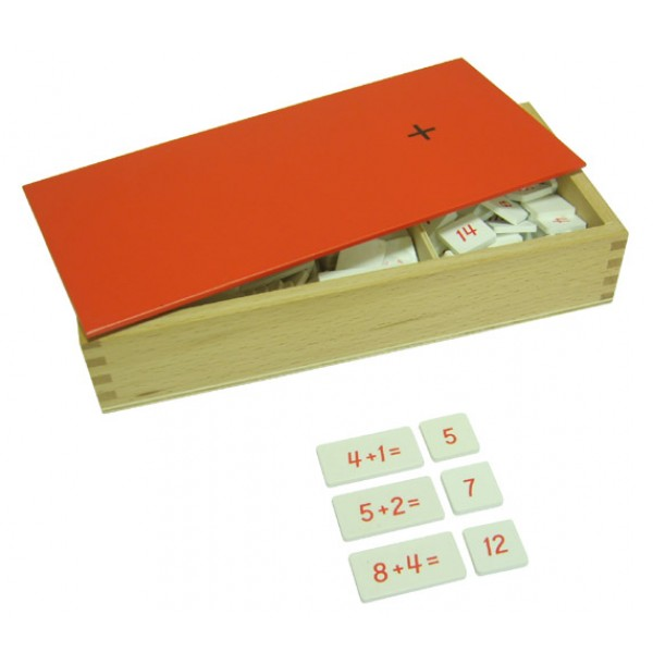 Ящик с примерами на сложение. 4.18