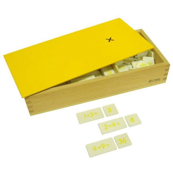 Ящик с примерами на умножение. 4.27