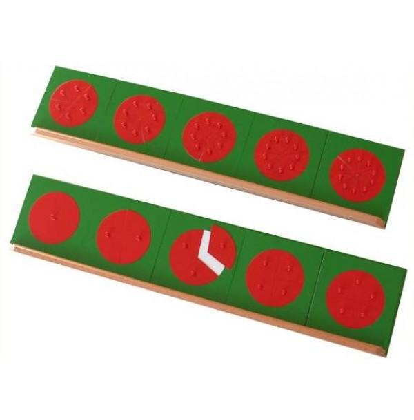 Металлические дроби-вкладыши (круги) с двумя подставками. 4.45