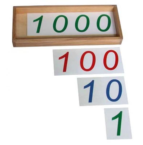 Карточки для «Введения СИМВОЛОВ 1, 10, 100, 1000». 4.05