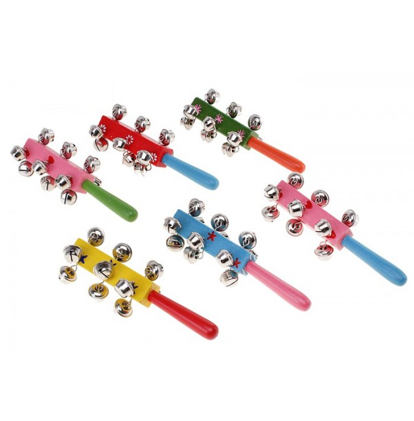 Погремушка с колокольчиками и ручкой, цвета МИКС 423615