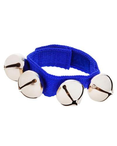 Браслет-погремушка с бубенцами, цвет синий 844128
