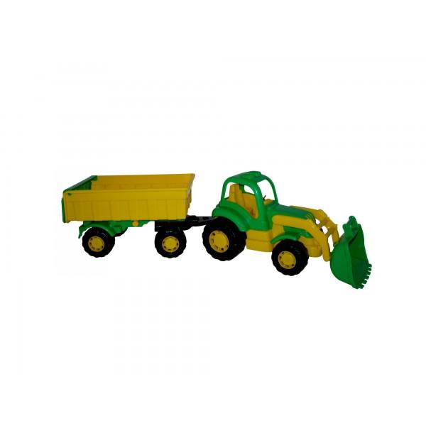 Крепыш, трактор с прицепом №1 и ковшом. 44556