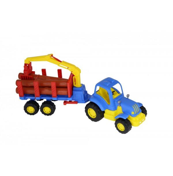 """""""Крепыш"""", трактор с полуприцепом-лесовозом. 44815"""