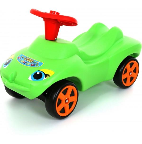 """Каталка """"Мой любимый автомобиль"""" зеленая со звуковым сигналом. 44617"""