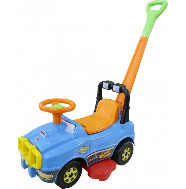 Автомобиль Джип-каталка с ручкой (со звуковым сигналом). 3378