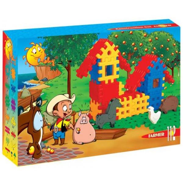 Конструктор фермер (112 элементов в коробке). 4864