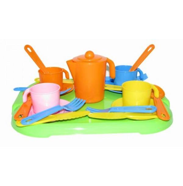 """Набор детской посуды """"Анюта"""" с подносом на 4 персоны. 3889"""